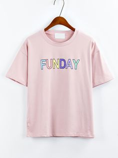 Shop Pink Letters Print T-Shirt online. SheIn offers Pink Letters Print T-Shirt & more to fit your fashionable needs.