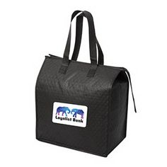 "Blizzcool Non-Woven Grocery/Cooler Bag, 11.75"" W x 14"" H x 7"" D. Upgraded Non-woven 90 gram Polypropylene. Inner 2 mm foam insulation with foil lining. Top zippered closure. Reinforced self-material handles. Drop in an ice pack (not included) and keep your drinks and food cold. Perfect for carrying frozen products home from the grocery store."