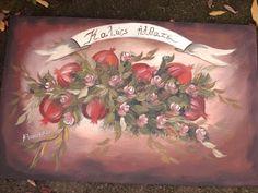 Greek Art, Decoupage, Diy And Crafts, Canvas, Creative, Blog, Handmade, Pomegranates, Design