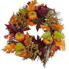 Halloween Decoration Basket Glitter Pumpkins Wreath Fall Harvest Decor #HalloweenDecorationBasket