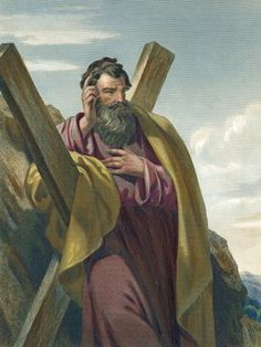 Meet the Apostle Andrew, Brother of Peter: Tradition says Andrew died a martyr on a Crux Decussata, or X-shaped cross .