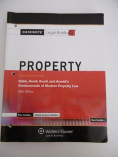 CASENOTE LEGAL BRIEFS PROPERTY SIXTH EDITION  #Legal