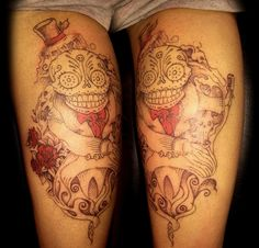 Unique Day of the Dead Tattoo by Jodypig #tattoos #killerink #coverup #blackandgrey #sleeve #unique #art #amazingink #tattooartist #tattooist #tattooer #artistattoos #bright_and_bold #uk #blacktattooart #ink #tattooflash #tattooed #tattoo #blackink #artist #personaltattoos #tattoosleeve #tattooportrait  #superb_tattoo
