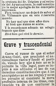 1902-06-22 semanario La Patria / El último Sabino – Belosticalle   Verdades que ofenden..