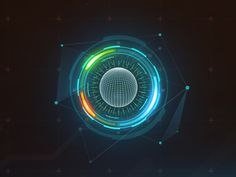 Dribbble - holographic interface by Artyom Burykin