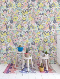 Wildflower wallpaper in Neapolitan by Aimee Wilder