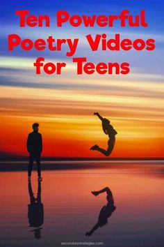 Ten powerful (and FREE) poetry videos for Teens. Use for National Poetry Month or anytime you need an engaging poem for students. Poems for middle school, high school, and college students. Some include the text of the poem and additional articles and poet info.