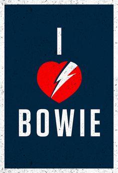 David Bowie Poster by Garret Steider, via Flickr