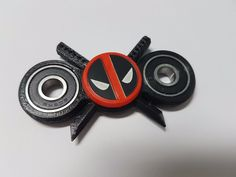 Spinner Fidget Toy Bearing Hand EDC Deadpool New Big face version Hero Spinners #HeroSpinners