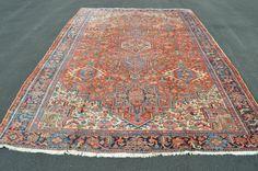 Large Antique Persian Heriz Rug size 8 x 11