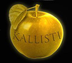 Eris's Golden Apple of Discord. Kallisti= Most beautiful.