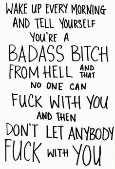 Bad Ass Bitch Quote