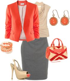 Coral Creative Office, created by katinastyle on Polyvore