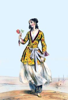 Medieval Persian Ottoman Clothes - persian Female 19th Century
