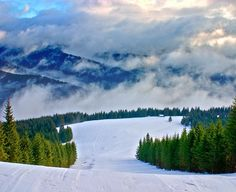 Smoky Carpathians by Lyncis. Taken in the Ukraine. Who knew it skiing in the Ukraine is similar to skying out West in CO in the USA? Ukraine, Beautiful World, Beautiful Places, Amazing Places, Photography Sites, Better Photography, Carpathian Mountains, Snowy Mountains, Mountain Waterfall