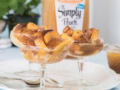 Peachy Bread Pudding with Rum Sauce Recipe
