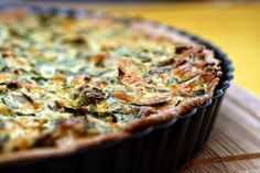 Eggless spinach quiche.