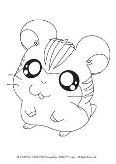 Stan du dessin animé hamtaro est prêt à être colorier