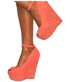 Cute coral shoes