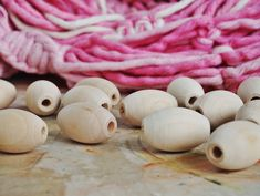 set of 100 Big Round Beads Bulk for Macrame Wooden Beads 30 mm