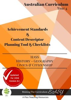 HASS - Planning Tool & ChecklistsBUNDLE - Year 4