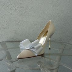 Silver Ribbon Bow Shoe Clips Set Of Two More by Chuletindesigns, $16.00