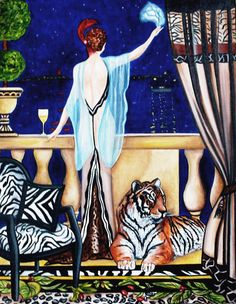 """""""Farewell My Love Interior Inspired by George Barbier"""" by k Madison Moore"""