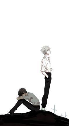 Shinji Ikari and Kaworu nagisa