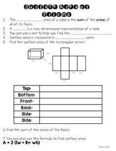 Surface Area of Prisms and Pyramids... by To the Square Inch- Kate Bing Coners | Teachers Pay Teachers