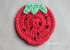 Patrón ganchillo Fruit Posavasos - Repetir Crafter mí