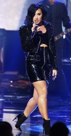 Demi Lovato performing at the American Music Awards in LA - November 22nd