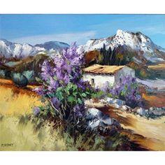 Galerie Art Sud - Les Alpilles aux lilas