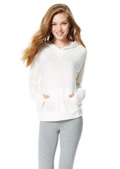 Super-Soft Hooded Thumbhole Pullover - Long Sleeves - Tops - Clothes - dELiA*s