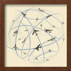 Airplanes Flying Art Print by Pop Ink - CSA Images at Art.com