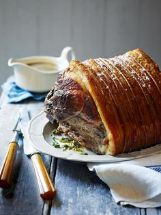 Breathe in the enticing smells as this roast pork shoulder cooks – we promise you the taste will be worth the wait.
