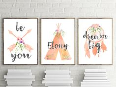 Girls Nursery Prints Set of 3 Boho Tribal Nursery or Bedroom Wall Art Decor by TheKidsPrintStore on Etsy Tribal Nursery, Boho Nursery, Nursery Prints, Nursery Wall Art, Girl Nursery, Wall Art Decor, Wall Art Prints, Bedroom Wall, Bedroom Prints