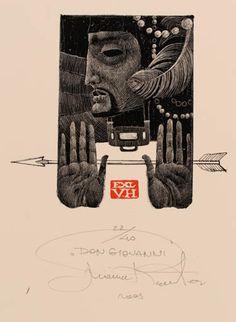 Art-exlibris.net - Bookplate by Marina Richter for H. V., (2003) : Klaus Rödel (cassette: 66 No. 7)