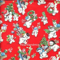 Vintage Christmas Wrapping Paper Wallpaper Snowmen with Xmas Trees and Toys Digital Image Printable Vintage Christmas Wrapping Paper, Vintage Christmas Images, Christmas Gift Wrapping, Vintage Holiday, Christmas Pictures, Antique Christmas, Noel Christmas, Christmas Paper, Retro Christmas