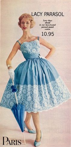 Retro Fashion Paris Shops I am changing my name to Lacy Parasol. Vintage Outfits, 1950s Outfits, Vintage Dresses, 1950s Dresses, 1950s Fashion, Vintage Fashion, Swing Dance Dress, Vestidos Pin Up, Vintage Mode