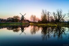 I like the sundown over the swamp :o   Instagram: https://www.instagram.com/phothomas.de  #sundown #swamp #sonnenuntergang #moor #dji #mavic #djimavicpro #copter #multicopter #drone #airphotography #water #windmill #windmühle #colors #colorful #silence #s