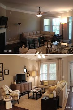 Great site for easy updates (this link   shows corner fireplace furniture arraignment). Staging ideas.