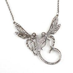 Art Nouveau Twee-Eenheid Collier. Verkrijgbaar bij artdecowebwinkel.com.
