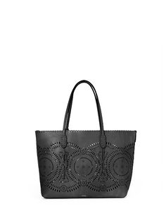 Laser-Cut Leather Tote - Polo Ralph Lauren Totes - RalphLauren.com