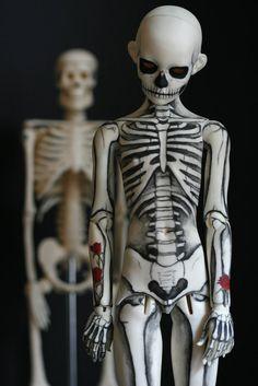 Skeleton Boy bjd doll fine photography by melancholykitties on etsy
