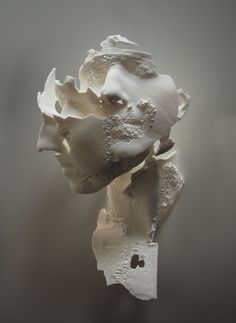 Sophie Kahn Sculpture Triple Portrait of E. print from laser scan Life size 2013