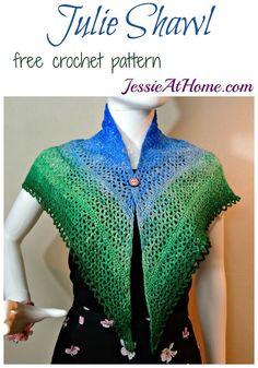 Julie Shawl - free crochet pattern by Jessie At Home
