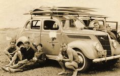 Baba Looey, surf wagon, early would love this photo framed Vintage Surfing, Vintage Cars, Antique Cars, Vintage Men, Vintage Surfboards, Retro Surf, Nostalgia, Beach Buggy, Surf City