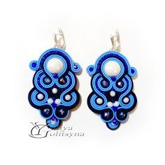 Soutache earrings Soutache jewelry Blue soutache earrings | Etsy Soutache Earrings, Etsy Earrings, Earrings Handmade, Silver Earrings, Dangle Earrings, Crystal Beads, Crystals, Blue Tones, Chandelier Earrings