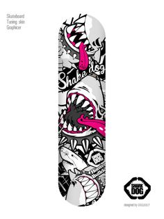 Shark DOG version1 Extreme character design Skateboard tuning skin graphicer design. designed by DOLDOL   WWW.GRAPHICER.CO.KR