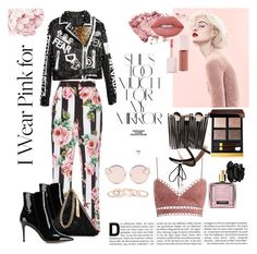 """I Wear Pink For"" by tarsinderia ❤ liked on Polyvore featuring Dolce&Gabbana, Burberry, Marc, Rika, Zimmermann, Lime Crime, Gianvito Rossi, Street Level, N°21 and WithChic"